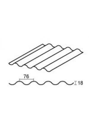 GUTTAGLISS PVC lakštas sinus  76/18 2.7 m2