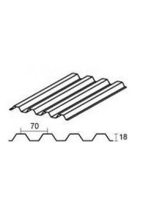 GUTTAGLISS PVC lakštas trapec 70/18 1.8m2